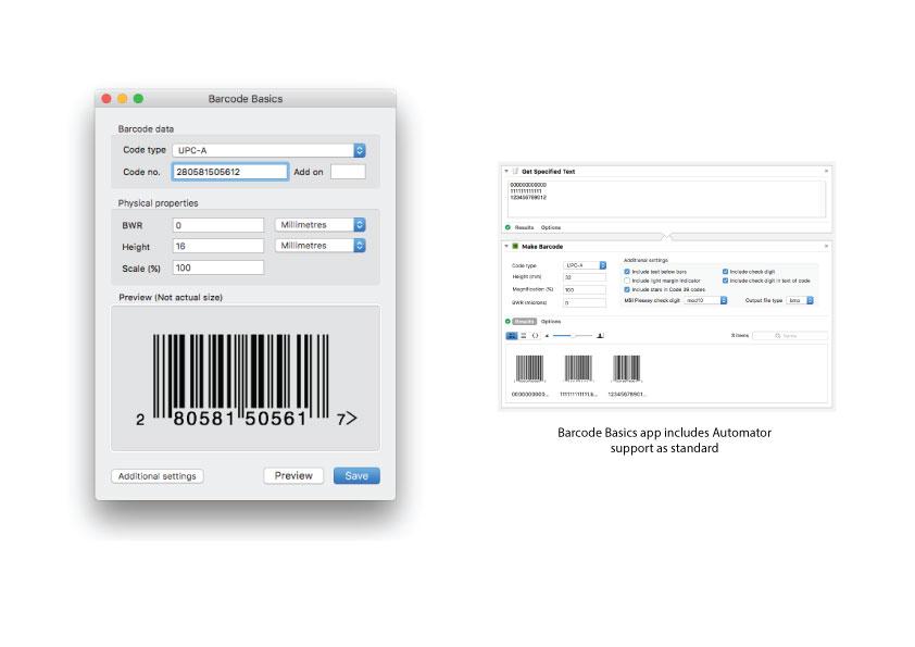 Professional macOS barcode software - Barcode Basics