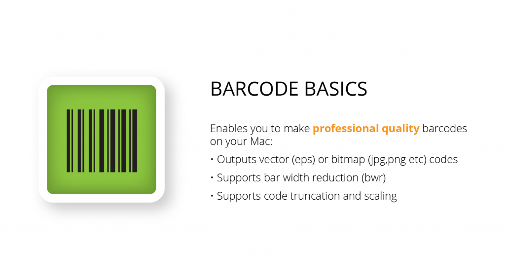 Professional quality mac barcode software