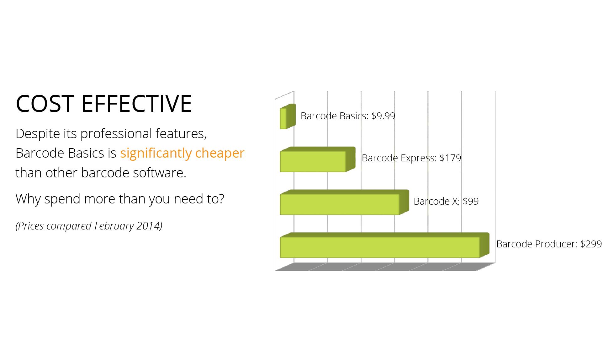 Cost effective mac barcode software