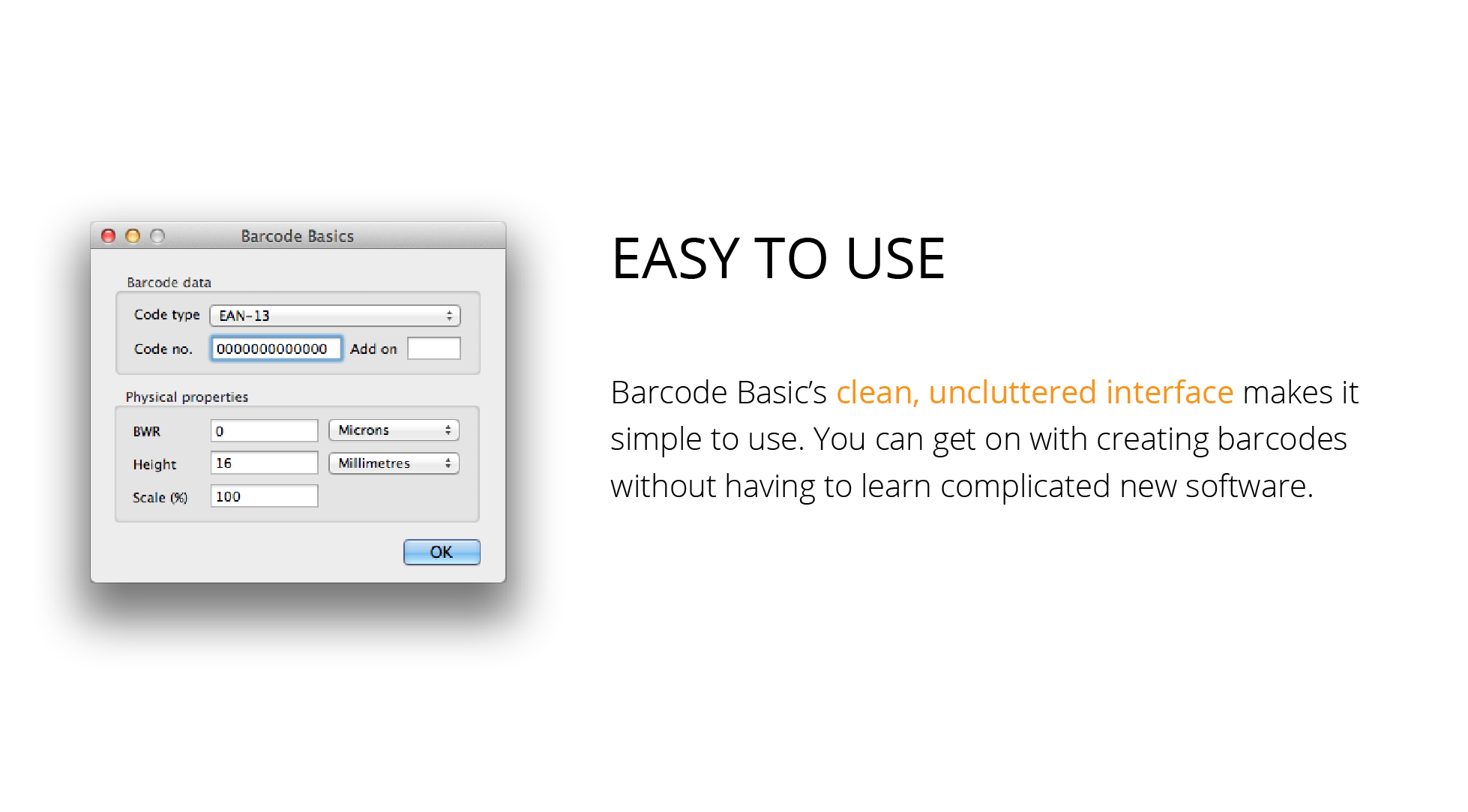 Easy to use mac barcode software